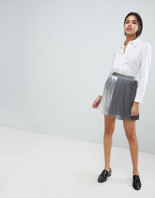 Sisley - Mini-jupe plissée