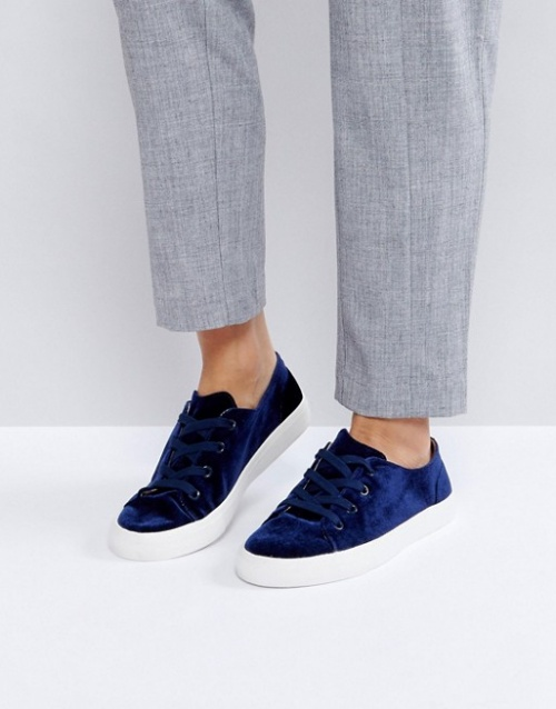 London Rebel - Baskets en velours