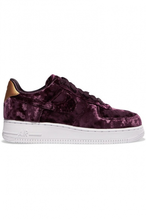 Nike - Baskets en velours