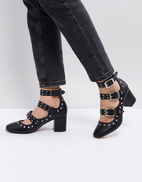 Asos - Chaussures cloutées à talon mi-haut