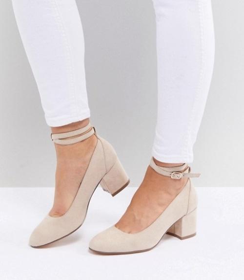 London Rebel - Chaussures larges à talons carrés