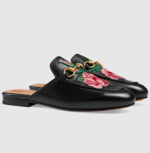 Gucci - Mocassins ouverts en cuir