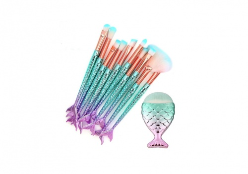 Toamen - Kit de pinceaux à maquillage Sirène