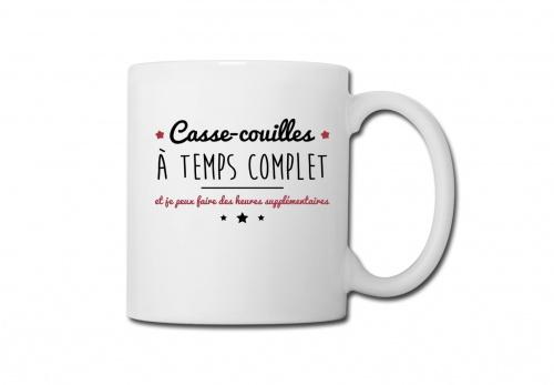 Spreadshirt - Mug Casse-Couilles À Temps Complet