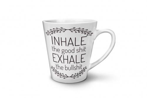 Wellcoda - Mug Inhale the good shit Exhale the bullshit
