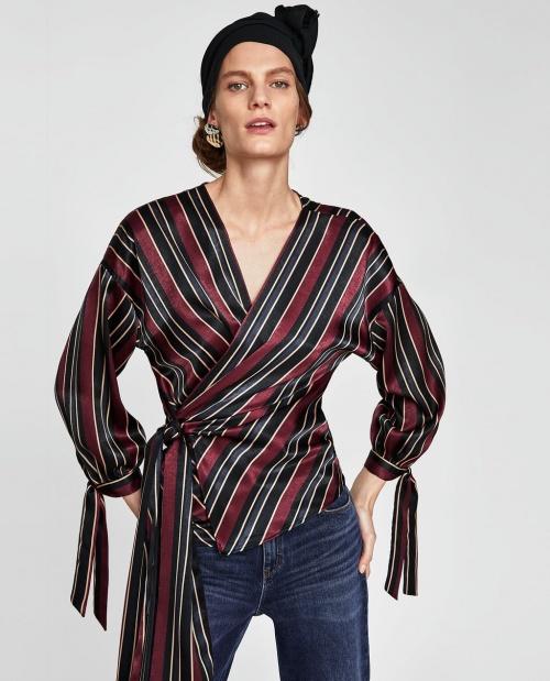 Zara - Blouse satinée
