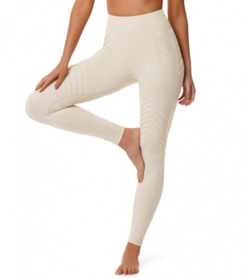 L'urv - Legging crème avec bandes en relief