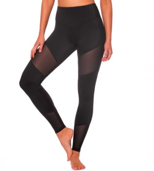 L'urv - Legging noir à bandes transparentes
