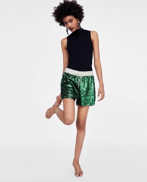 Zara - Short à paillettes