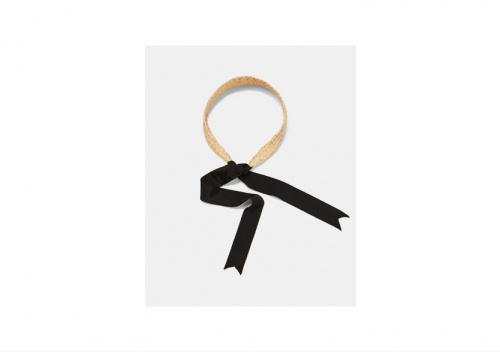 Zara - Bandeau Style Raphia et Ruban