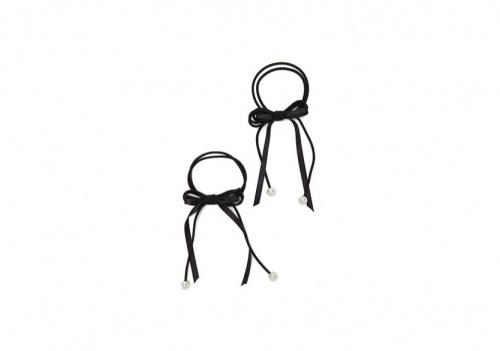 Forever 21 - Lot d'Élastiques Pour Cheveux Avec Perles Synthétiques