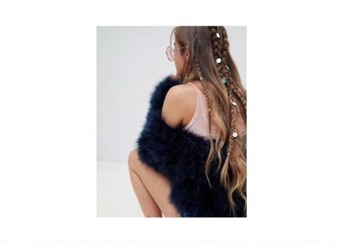 Missguided - Anneaux à Cheveux Ornés de Sequins Irisés