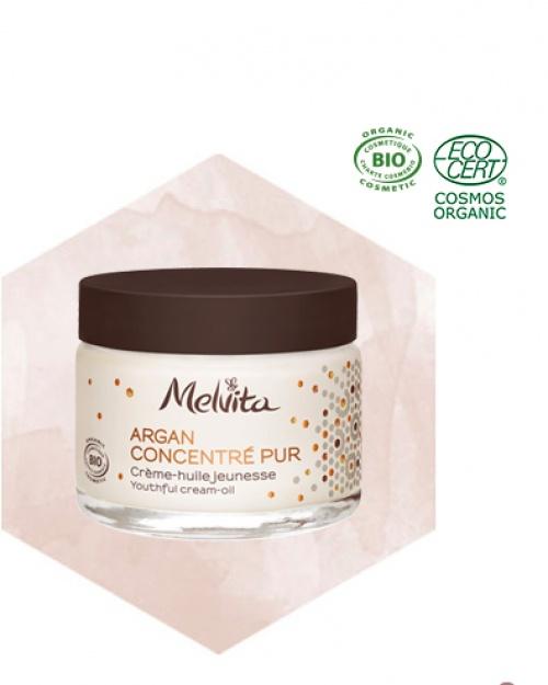 Melvita - Crème hydratante concentrée à l'huile d'argan