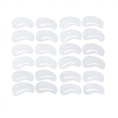 24 pochoirs pour le maquillage des sourcils - SODIAL(R)