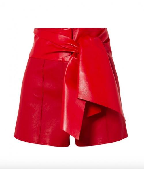 Valentino - Short en cuir à noeud