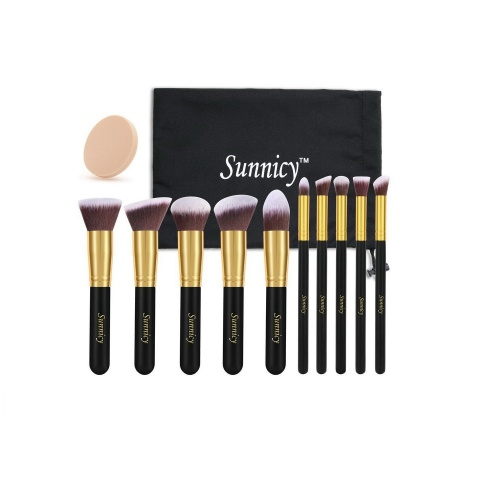 Sunnicy - Kit de 10 pinceaux professionnels