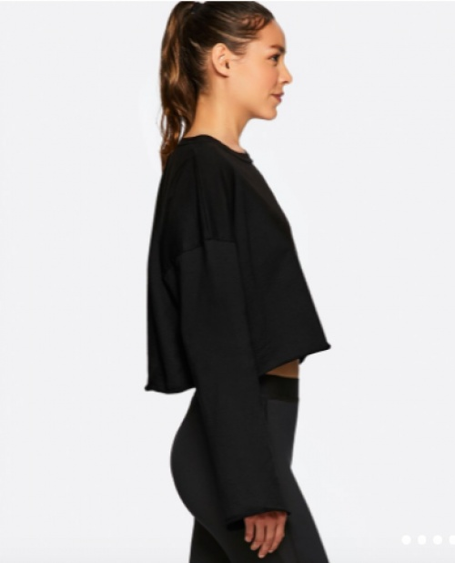 Alala - Pullover crop top manche ample