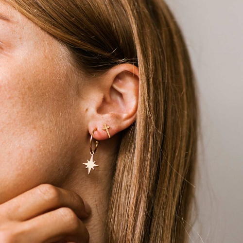 Bijoux Léone - Boucles d'oreilles étoile