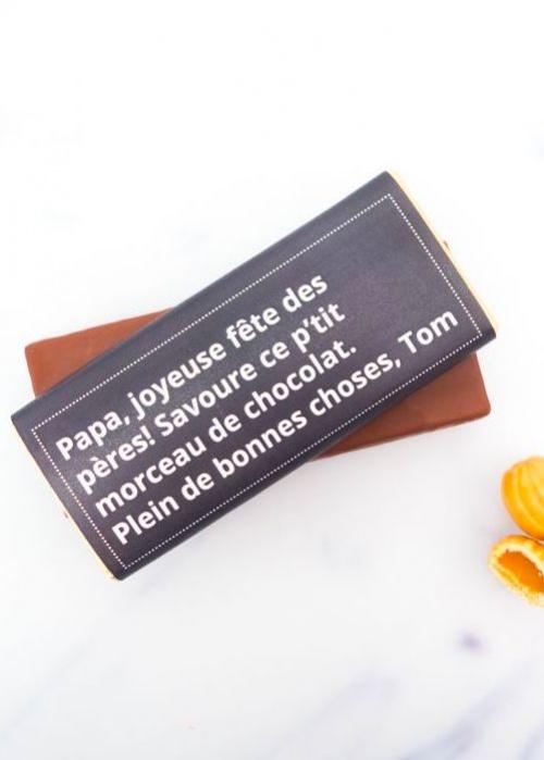 Cadeaux en Folie - Tablette de chocolat personnalisable