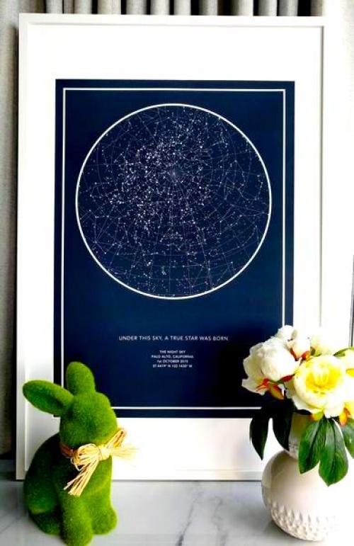 The Night Sky - Poster de constellation de la nuit de votre choix