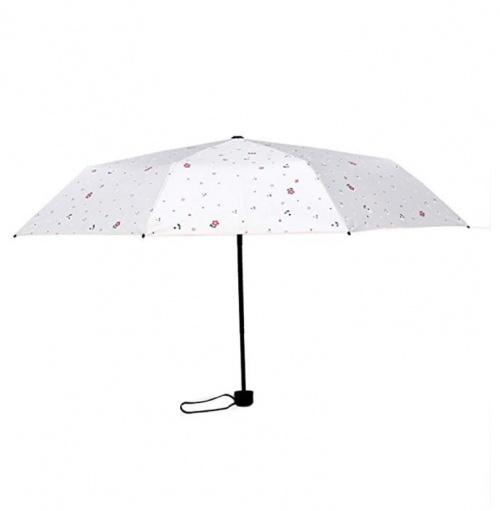 Parapluie blanc imprimé fleuri - Ofgcfbvxd