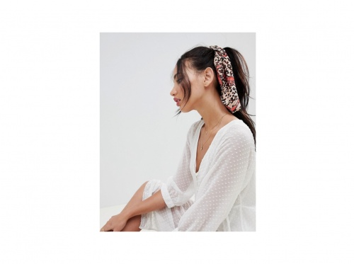 Asos Design - Foulard à cheveux à imprimé animal