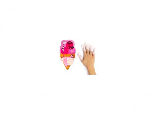 Le mini macaron - Masque doigts Rose Lavande
