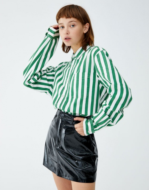 Pull & Bear - Jupe finition vernie 5 poches