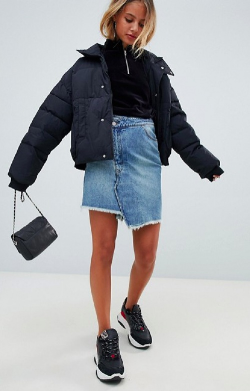 Miss Sixty - Jupe en jean avec superposition