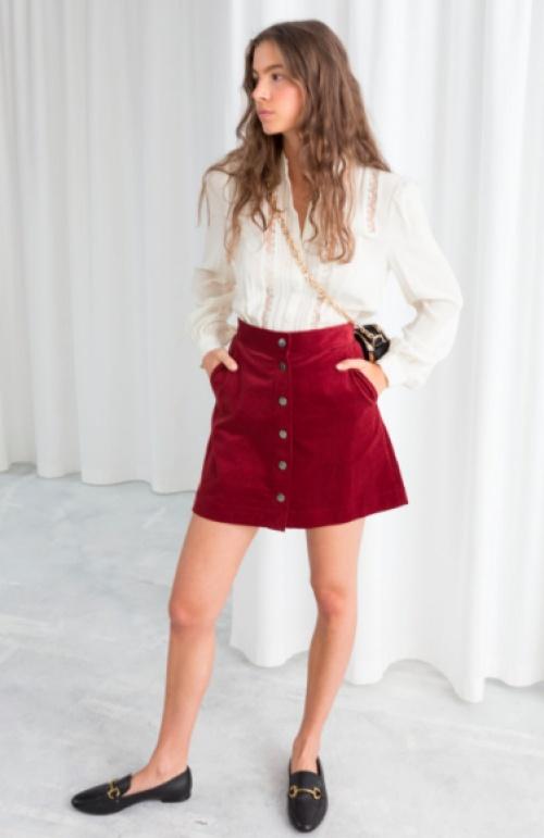 & Other Stories - Corduroy Mini Skirt