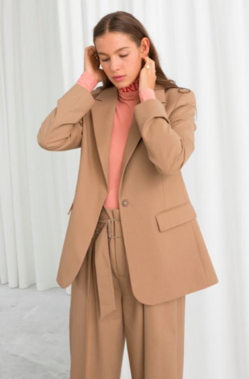 & Other Stories - Wool Blend Tailored Blazer