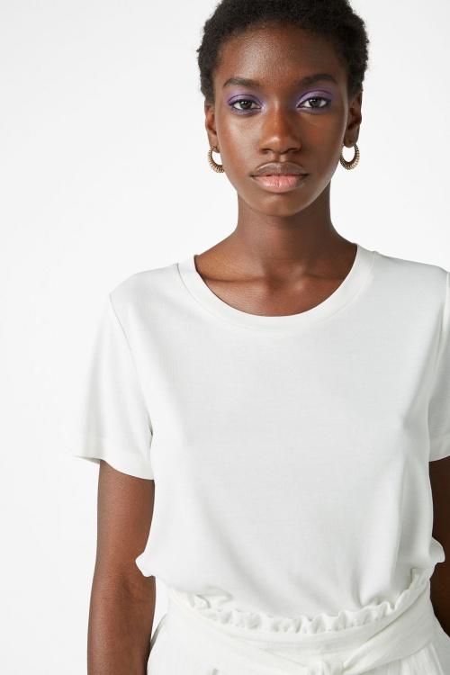 Monki - T-shirt blanc