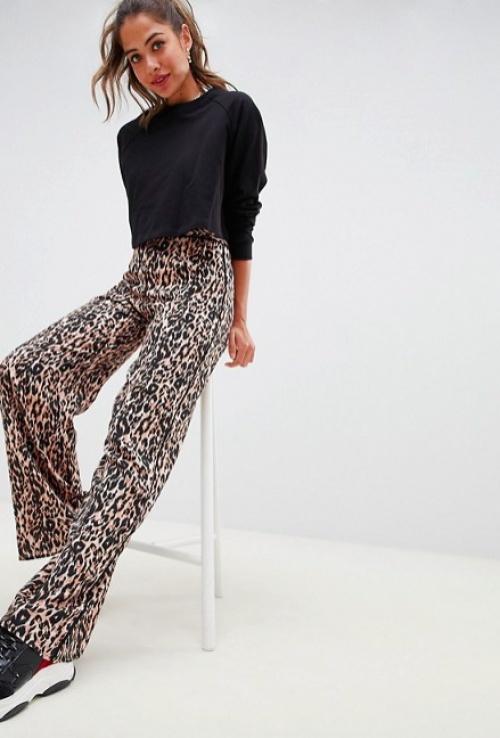 Miss Selfridge - Pantalon Large à Imprimé Léopard