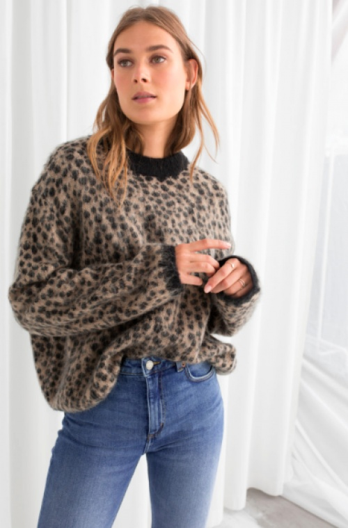 & Other Stories - Leopard Knit Sweater