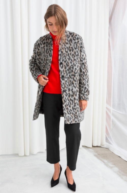 & Other Stories - Leopard Boxy Coat
