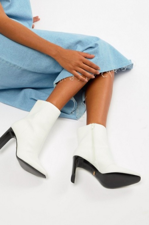 Faith - Betty - Bottines à Talons Fins - Blanc