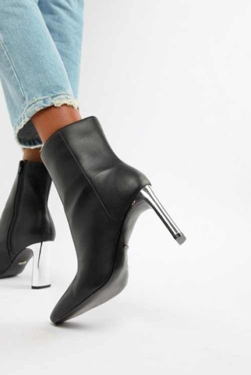 Faith - Betty - Bottines à Talons Fins - Noir