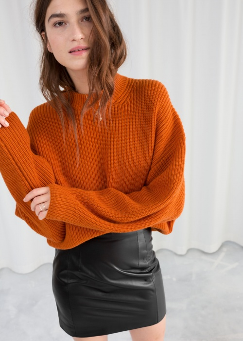 & Other Stories - Wool Blend Rib Knit Sweater