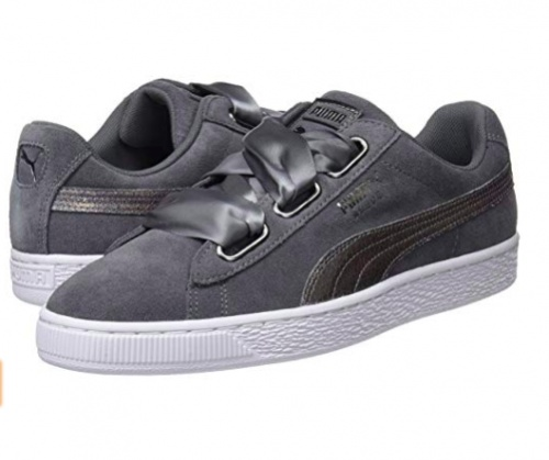 Puma - Baskets gris anthracite à rubans