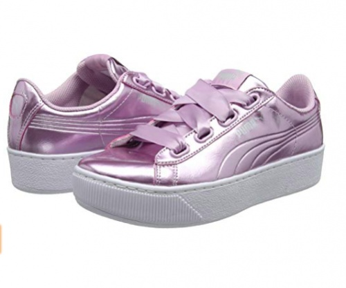 Puma - Baskets lilas à plateformes