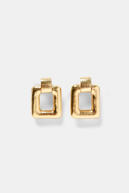 Zara - Boucles d'Oreilles Broches Carrées