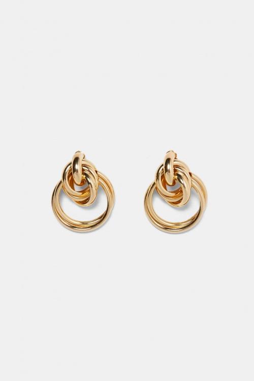 Zara - Boucles d'Oreilles à Anneaux En Métal
