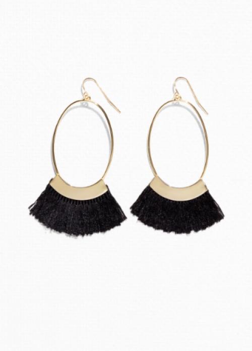 Oval Fringe Earrings