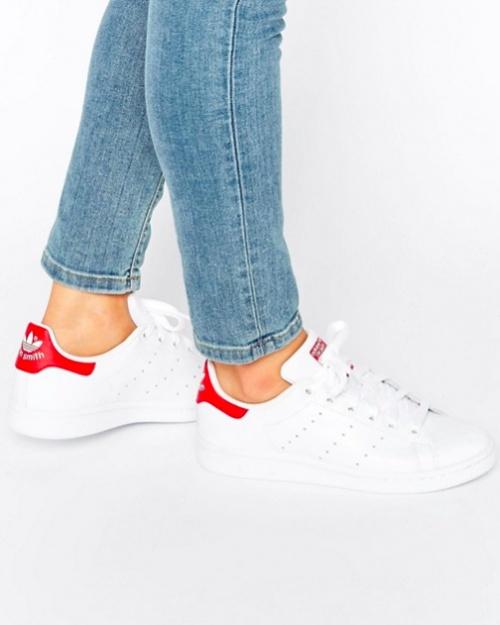 Adidas Originals - Stan Smith - Baskets - Blanc et Rouge