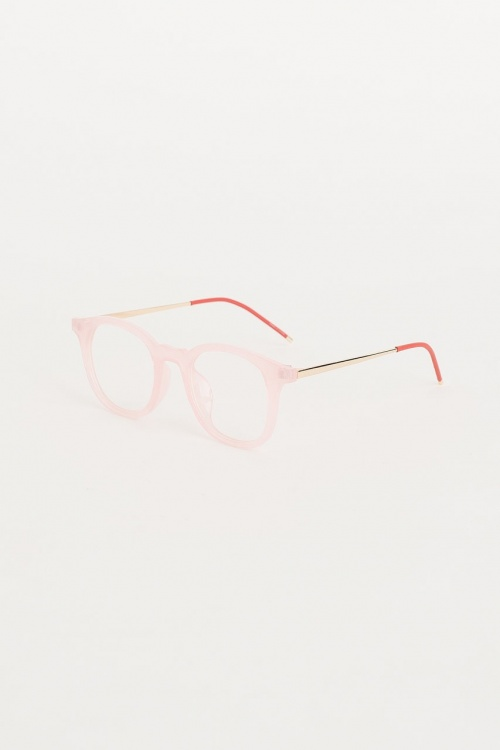 Olive Clothing - Gold Point Leg Glasses, Pink