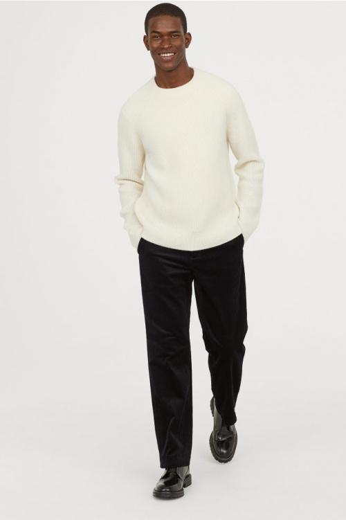 H&M - Pantalon en Velour Côtelé