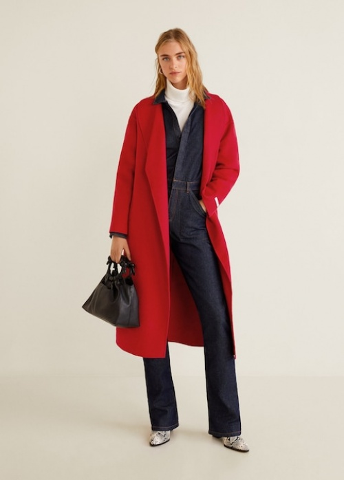 Mango - Manteau Long en Laine