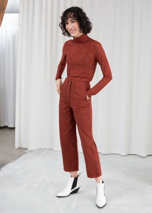 & Other Stories - Straight Fit Workwear Trousers