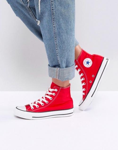 Converse - Chuck Taylor - Baskets montantes - Rouge
