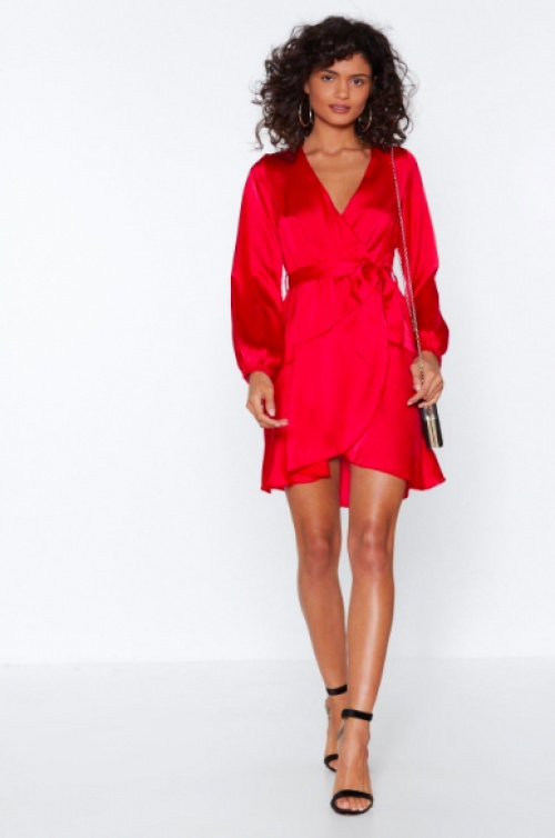 Nasty Gal -  Let It Slink in Wrap Dress